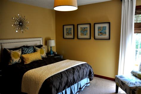 Yellow Colour In The Bedroom Mustard Yellow Paint Color Contemporary Bedroom