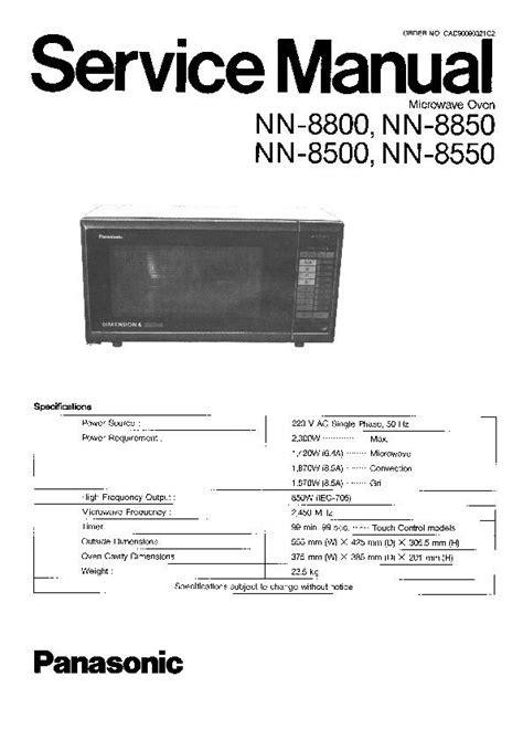Panasonic Microwave Service Manual Bestmicrowave