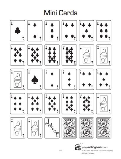 printable domino cards for math 44 best images about card dice domino math on pinterest