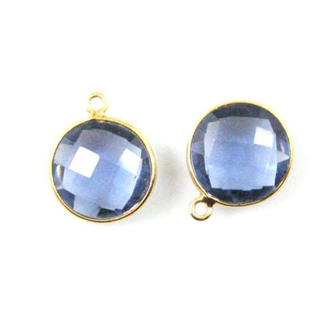wholesale gold plated sterling silver bezel iolite