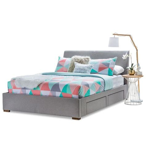 grey queen bed frame seattle queen bed frame w 4 storage drawers grey buy