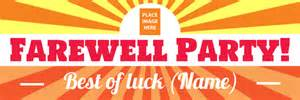 farewell banner template welcome to the banner warehouse pvc banners for any