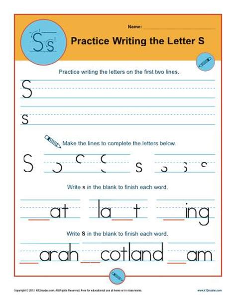 Memo Writing Exercises Quiz Letter S Worksheets Printable Handwriting Worksheet