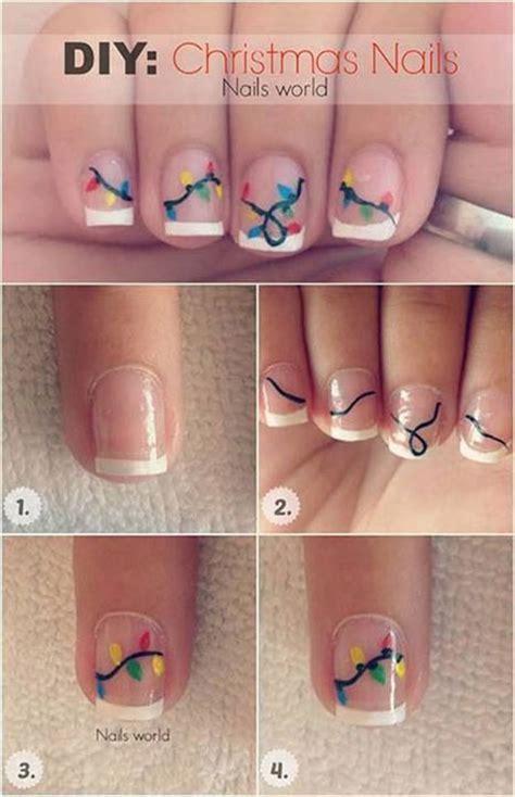xmas nail art tutorial 18 easy step by step christmas nail art tutorials for