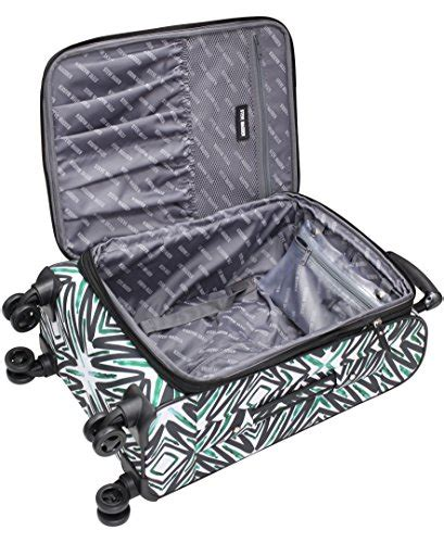 steve madden tribal luggage 4 expandable suitcase with spinner wheels luxury sales and