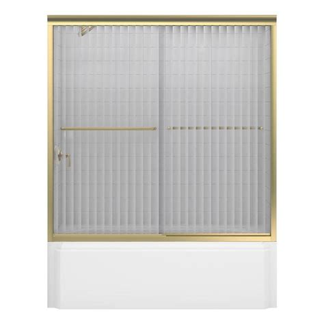 Kohler Bathtub Glass Doors by Kohler Levity 60 1 4 Bath Door With Handle K 706000 L Mx