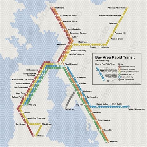 bart map time scale map of bay area rapid transit maps