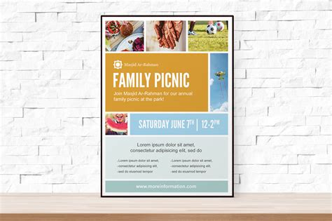 Photo Collage Picnic Flyer Template Flyer Templates On Creative Market Collage Flyer Template