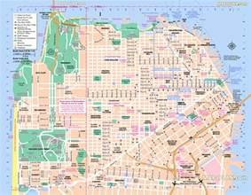san francisco map detailed san francisco landmarks map