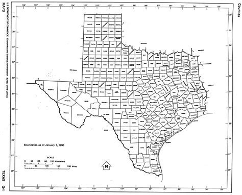 texas map of counties with names reisenett texas maps