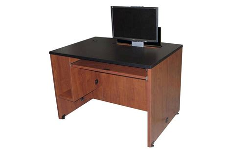 Exact Ds 4230 42 Quot Wide Computer Desk With Monitor Lift 42 Computer Desk