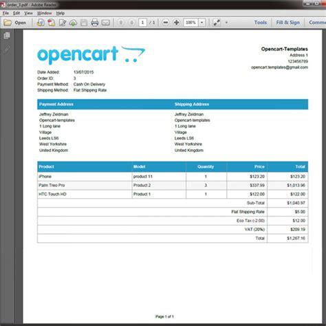 28 opencart invoice module pdf invoice template builder