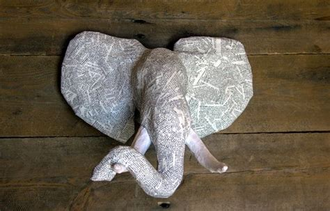 How To Make Paper Mache Animal Heads - best 25 elephant ideas on elephant
