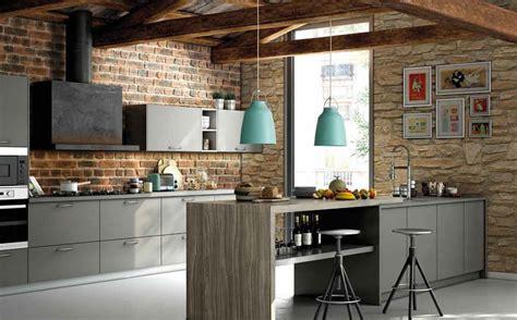 foto cocina  pared de piedra  ladrillo de  stones