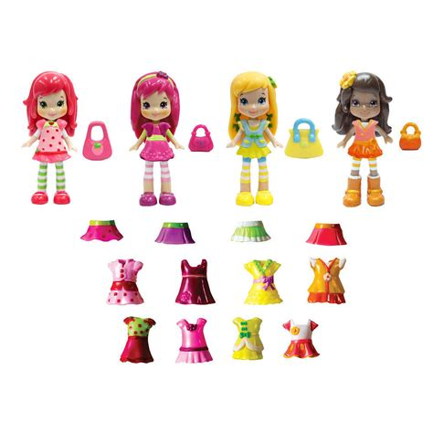 Figure Mainan Strawberry Shortcake Family strawberry shortcake 3 inch berry bitty friends fashion doll multipack nib ebay