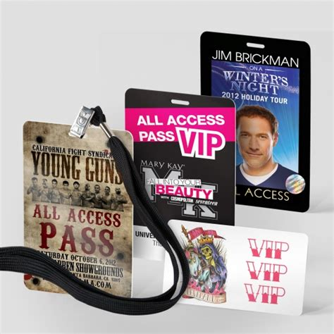 Security Pocket Card Template by Custom Vip Passes Tour Laminates And Vip Cards