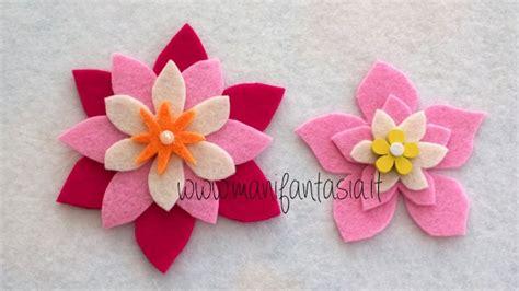 come fare fiori di feltro fiori di feltro 10 facili tutorial senza cucire manifantasia