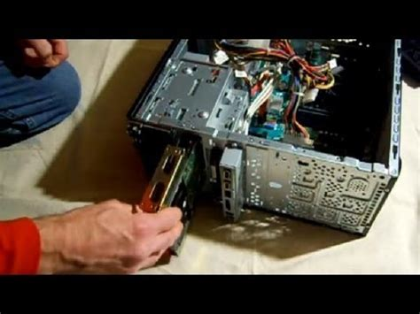 drive install how to install sata hard drive into a computer youtube