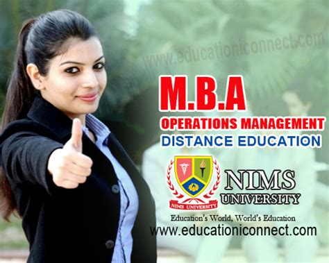 What Is Mba In Education by Mba Operations Distance Education Nims