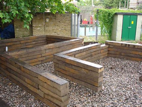 Garden Sleeper by Railway Sleepers