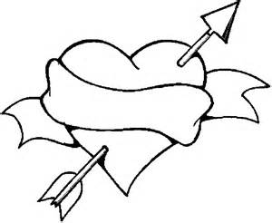Heart With Arrow Coloring Pages Sketch Page sketch template