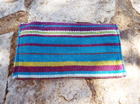 Handcrafted Textiles - tobacco pouch cotton handmade fabric pocket stitched