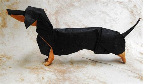 origami dachshund i ve never seen a dachshund model that used a color change