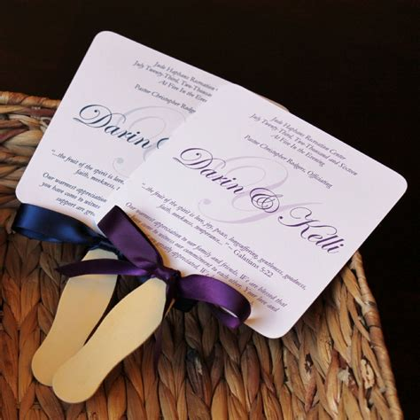 Wedding Fans by Country Cottage Wedding Fan Programs Citrine Designs
