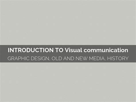 visual communication design introduction haiku deck gallery education presentations and templates