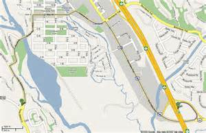 map of canmore ab