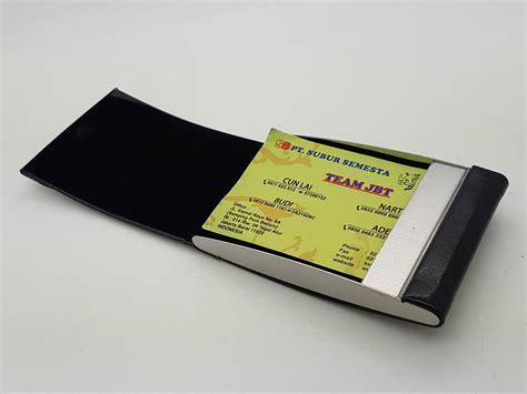Dompet Tempat Penyimpanan Kartu Kredit Aman Aluminium B Murah dompet kartu dengan bahan kulit tempat kartu elegan
