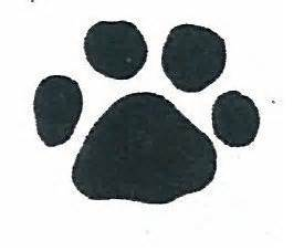 paw print rubber st rubber st paw print small a4 size 1