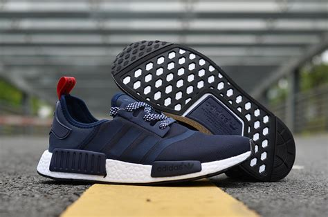 advanced design adidas nmd r1 runner navy blue white s s light casual sneakers