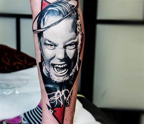 James Hetfield tattoo by Barbara Kiczek | Post 15391 James Hetfield Tattoos 2017