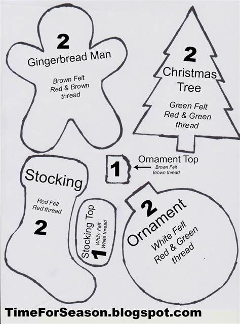 felt christmas stocking decoration templates best photos of felt ornament patterns printable pinteres