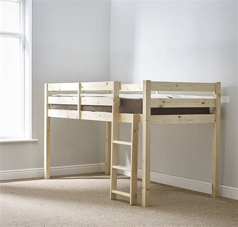 Solid Pine Cabin Bed molly 3ft single length solid pine cabin bed