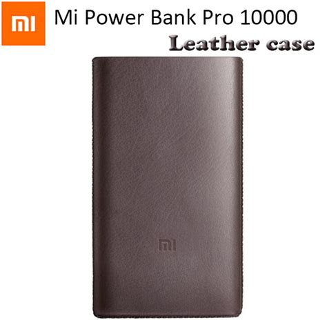 Power Bank Mi 60000mah original xiaomi mi power bank pro 10000mah pouch mi powerbank pro 10000 pu leather