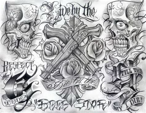 tattoo flash art for men chicano style flashes hamburg 5405583 171 top