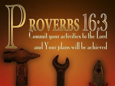 proverbs  commit  works   lord   plans   established