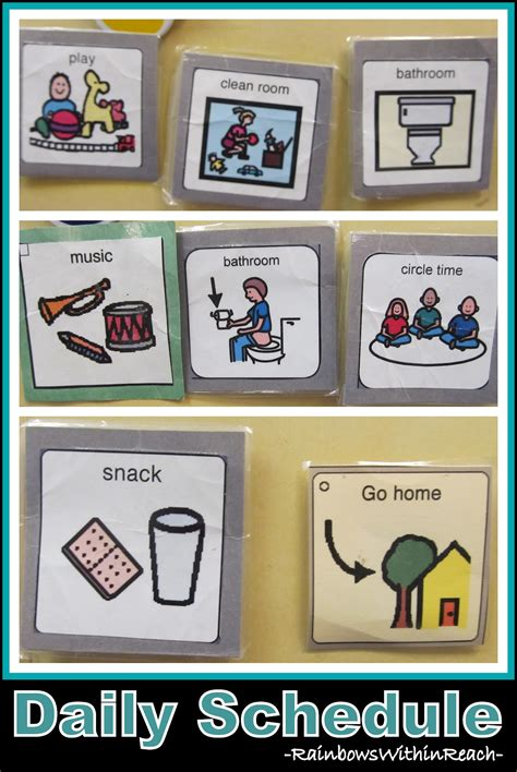 printable visual schedule for toddlers www rainbowswithinreach blogspot com