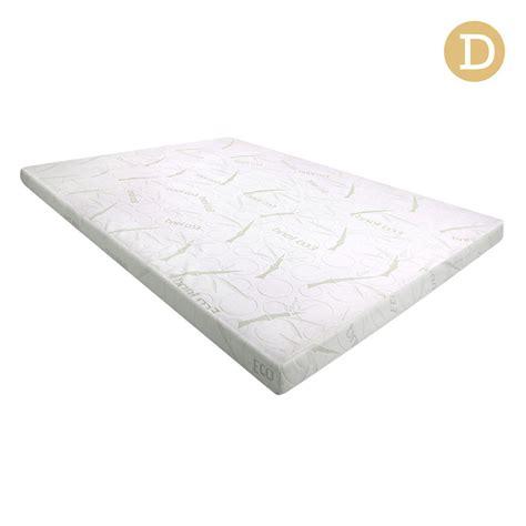 cool gel memory foam mattress topper w bamboo fabric
