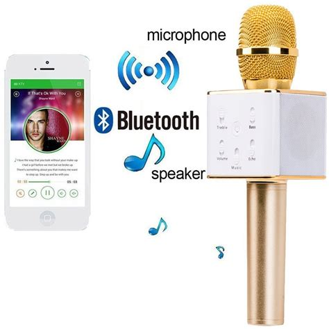 Microphone Q7 Bluetooth Wireless Portable Karaoke 2 karaoke new q7 microphone wireless portable handheld singing machine condenser microphones mic