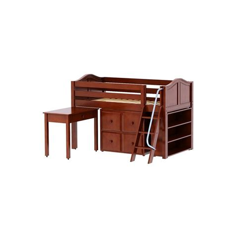 twin loft bed with desk and storage kicks16 twin low loft with ladder storage desk