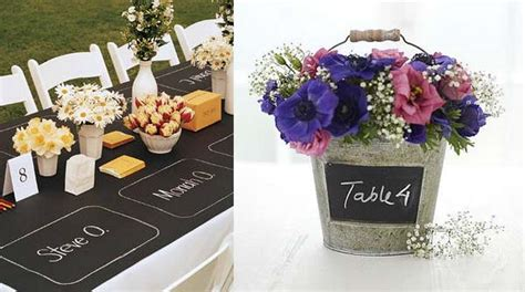 wedding table decorations ideas uk blackboard wedding table decorations the wedding of my dreams
