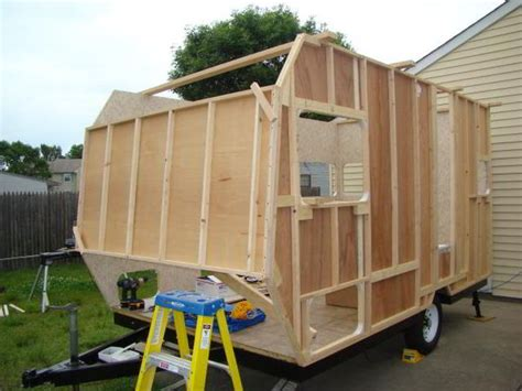 how to build a custom house diy cer trailer built from an old pop up on a budget of