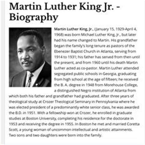 mlk biography for students martin luther achievements related keywords martin