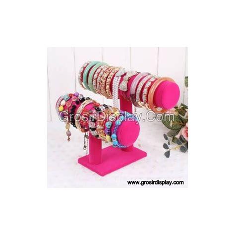 Tempat Gantungan Aksesoris 141712 display tempat gelang jam tangan 2 susun aksesoris perhiasan rak toko grosir display