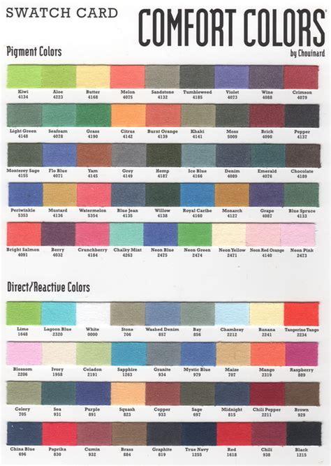 comforting colors comfort color swatch quotes