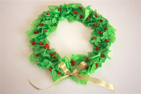 How To Make A Tissue Paper Wreath - simple tissue paper wreath papa bubba