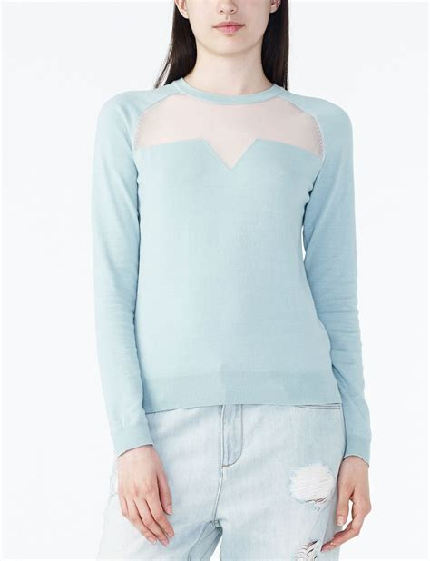 Sweater Distro 45 armani exchange sheer detail sweater pullover for a x store